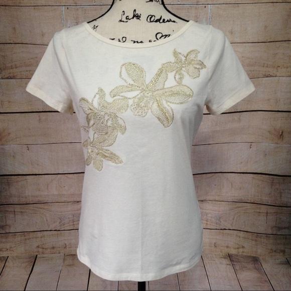 Lauren ralph lauren tops saleralph lauren white top with gold saleralph lauren white top with gold flowers mightylinksfo